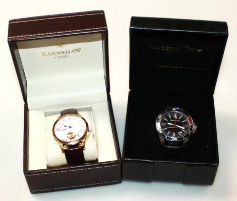 A modern Earnshaw gentleman's wristwatch