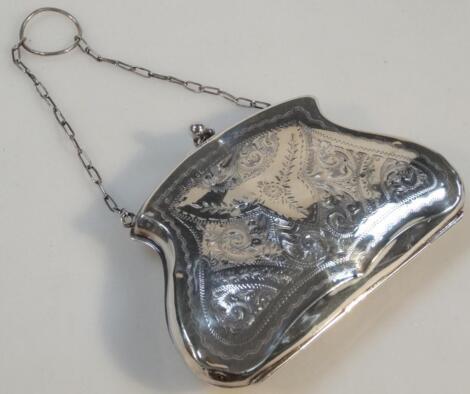 A George V silver evening purse