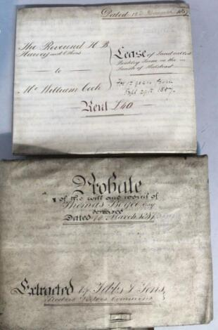 Various 19thC documents