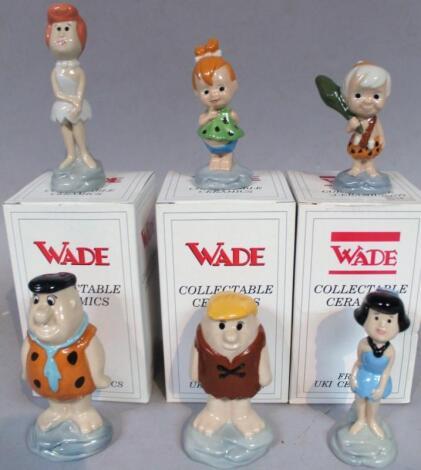 Various Wade Flintstones figures