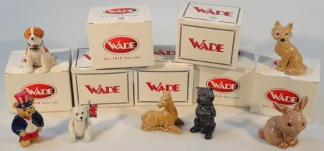 Various Wade limited edition Collectors Club and other figures