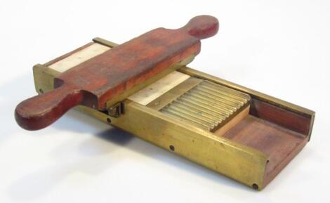 A 19thC mahogany brass and marble pill maker
