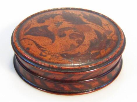 An early 19thC parquetry snuff box