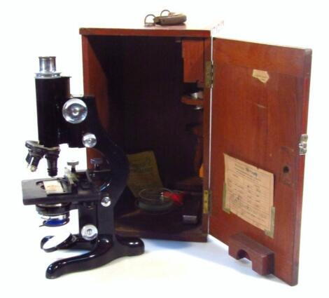 A mid-20thC Watson and Sons Service microscope