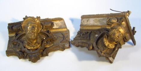 An early 19thC plaster gilt and gilt wood trellis