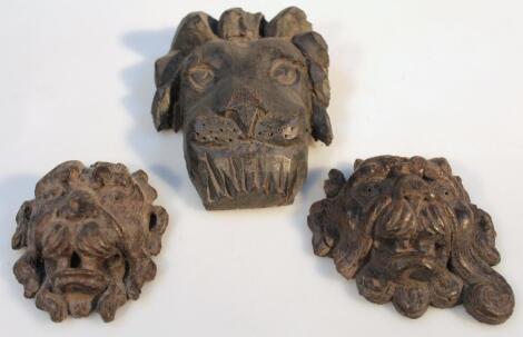 Various 18thC oak carving