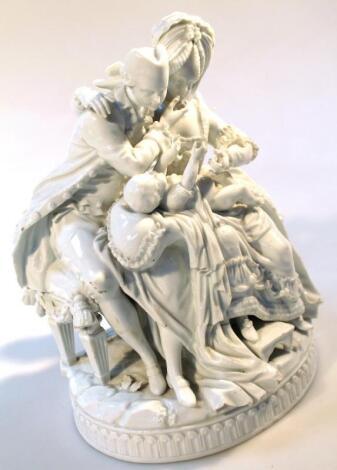 An 18thC Meissen porcelain figure group