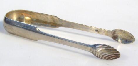 A set of George III Scottish silver sugar bows