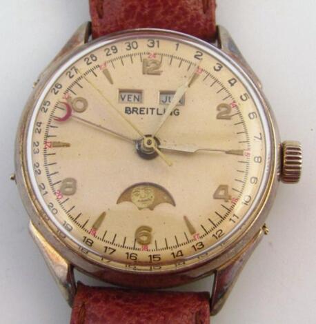 A mid-20thC Breitling manual wind gentleman's wristwatch