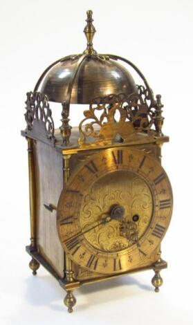 A 17thC style brass lantern clock