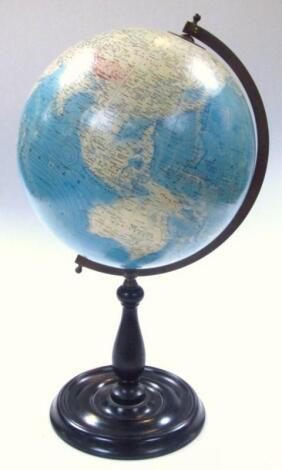 A mid-20thC Greaves and Thomson terrestrial table globe