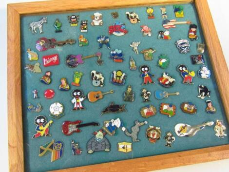 Various early 20thC enamel pin badges