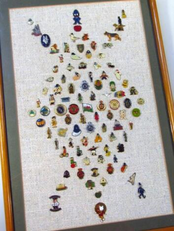 Various early 20th and later enamel pin badges