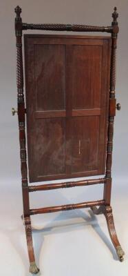 A Regency mahogany cheval mirror - 2