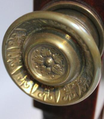 A Regency mahogany cheval mirror - 6