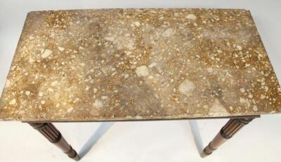 A Regency mahogany marble topped side table - 3