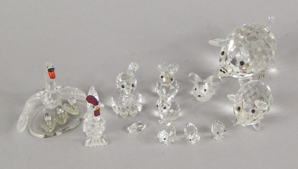 b3edb446e Various Swarovski crystal animals and birds - Price Estimate: £45 ...
