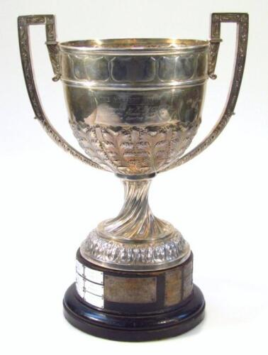 A Victorian silver trophy