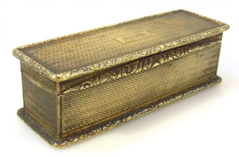 An early 19thC French gilt metal snuff box