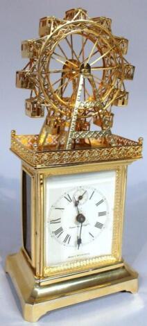 A 20thC Wurttemberg Ferris wheel carriage clock