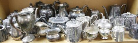 A large quantity of early 20thC silver plate