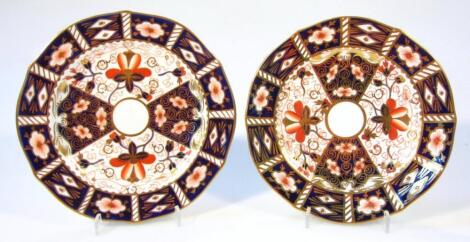Two Royal Crown Derby Old Imari pattern plates