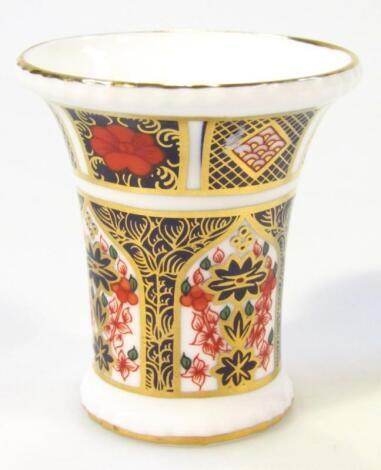 A Royal Crown Derby Imari pattern squat vase