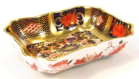A Royal Crown Derby Imari pattern pin dish