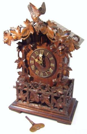A 19thC Black Forest cuckoo clock
