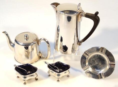 Various George V and later silver and silver plate