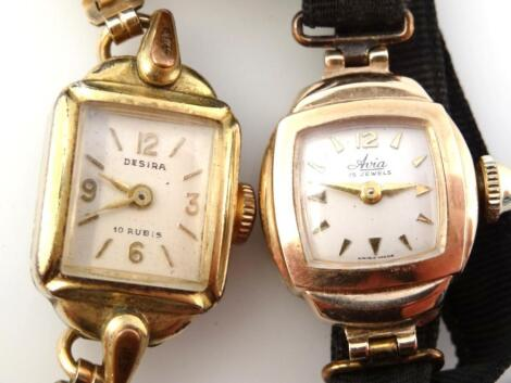 A mid-20thC ladies Avia cocktail watch