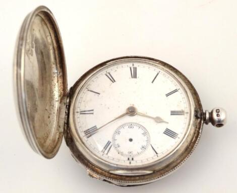 A Victorian silver hunter pocket watch