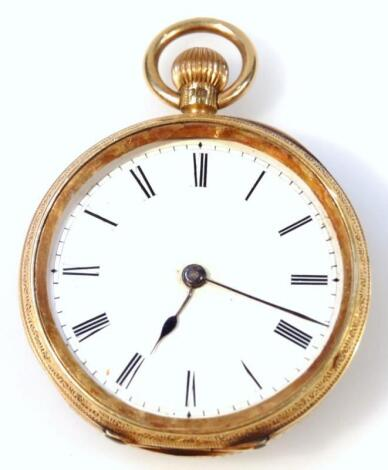 A late Victorian fob watch