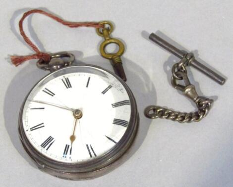 A Victorian silver open faced pocket watch
