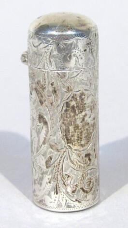 A late Victorian silver perfume bottle