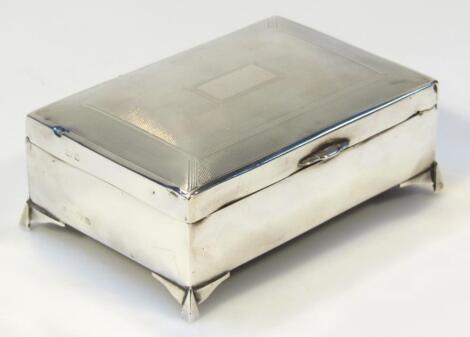 A mid-20thC silver cigarette box