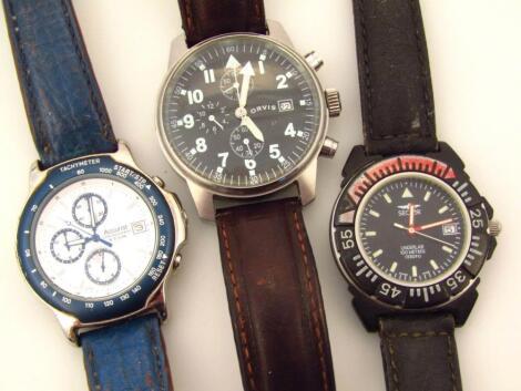 Three various gentleman's wristwatches