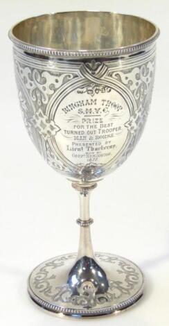 A Victorian silver chalice