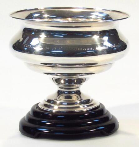 A George V silver rose bowl