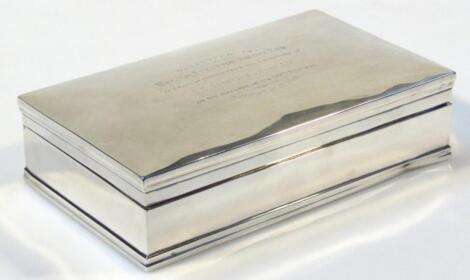 A George V silver cigarette box