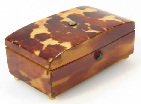 A Victorian tortoiseshell patch box