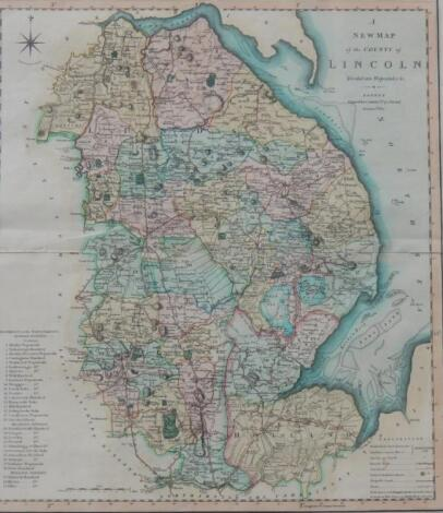 After C Smith. Map of Lincolnshire with Spurn Point to the North