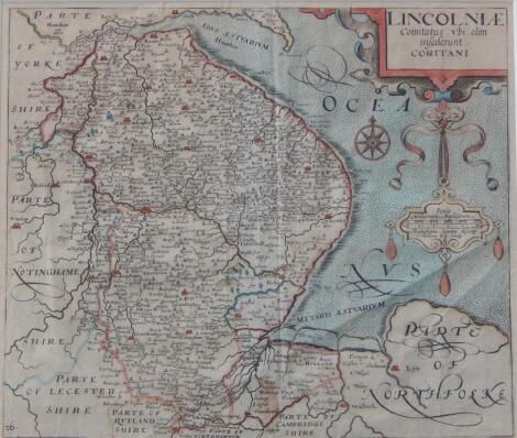 After Christopher Saxton. Map of Lincolnshire