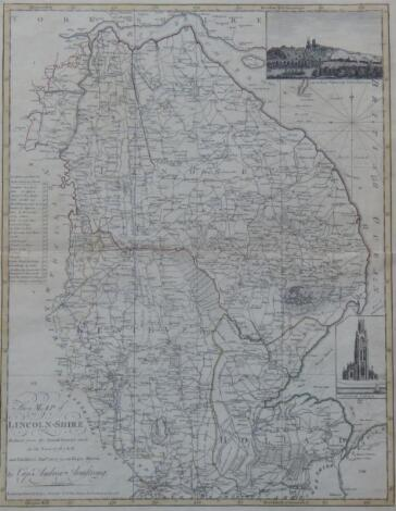 After Captain Andrew Armstrong. Map of Lincolnshire