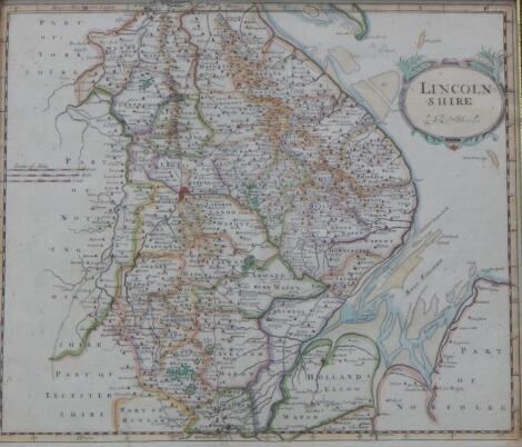 After Robert Morden. A map of Lincolnshire
