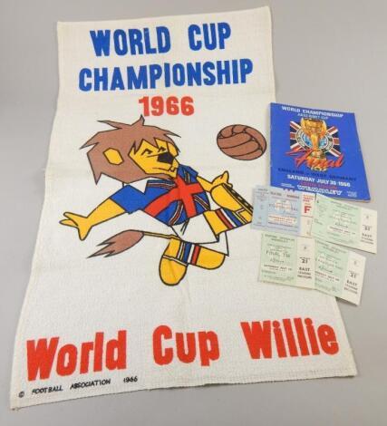 A collection of 1966 World Cup football memorabilia