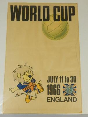 An original 1966 football World Cup Tournament poster