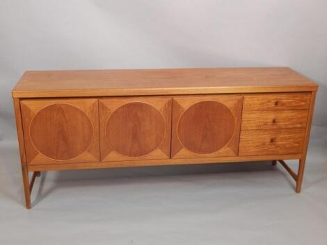 A Nathan teak Retro style low sideboard