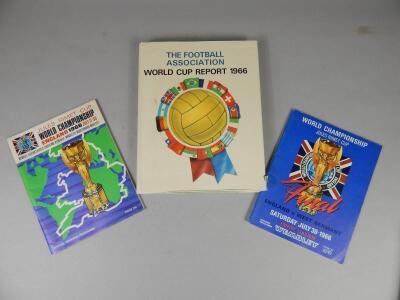 A 1966 World Cup football programme