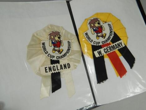A quantity of 1966 original World Cup rosettes